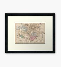 Vintage Map of Cambridge Massachusetts (1891) Framed Print