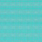Aqua Gingham Checked Pattern by Artist4God