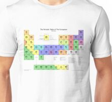 Periodic Table of Europeans Unisex T-Shirt