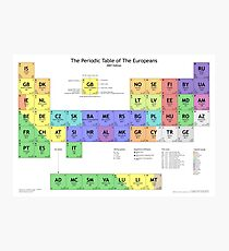 Periodic Table of Europeans Photographic Print