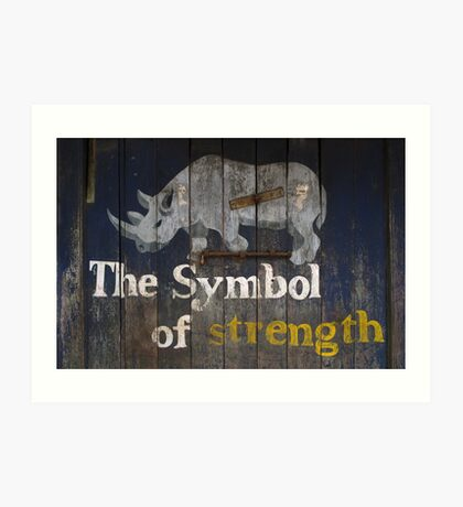 The Symbol of strength Art Print