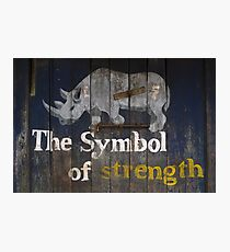 The Symbol of strength Photographic Print