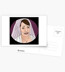 Oh, now she's crying - peep show Postcards