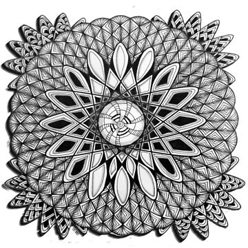 Zentangle Spirograph by gretassister