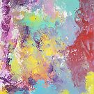Rainbow Modern Abstract Spring Colors Painting by Express Yourself Artshop