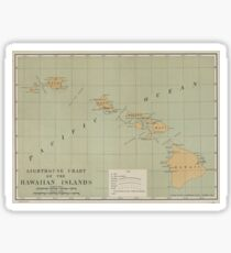 Vintage Lighthouse Map of Hawaii (1898) Sticker