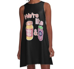 We 39 re like peanut butter jelly by perrin le feuvre for Peanut butter t shirt dress