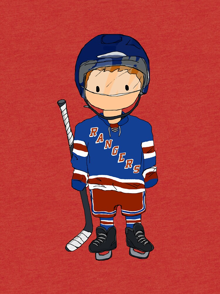 mini rangers jugador de hockey (camiseta local) de charliecross