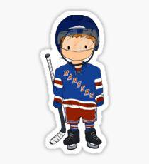 Pegatina mini rangers jugador de hockey (camiseta local)
