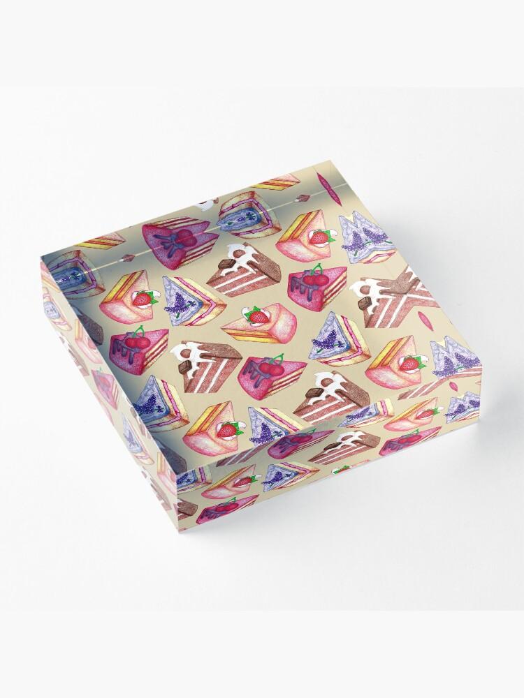 Alternate view of Piece of Cake  Acrylic Block