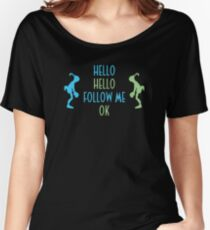 Oddworld Abe's Oddysee Hello (Blue & Green) Women's Relaxed Fit T-Shirt