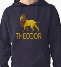 Theodor Lion Drawstring Bags Pullover Hoodie