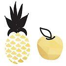Pen Pineapple Apple Pen  by Sophersgreen