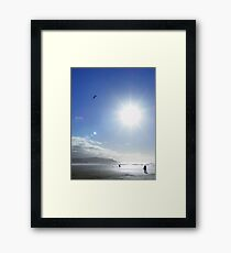 Cornwall: Let's go fly a kite Framed Print