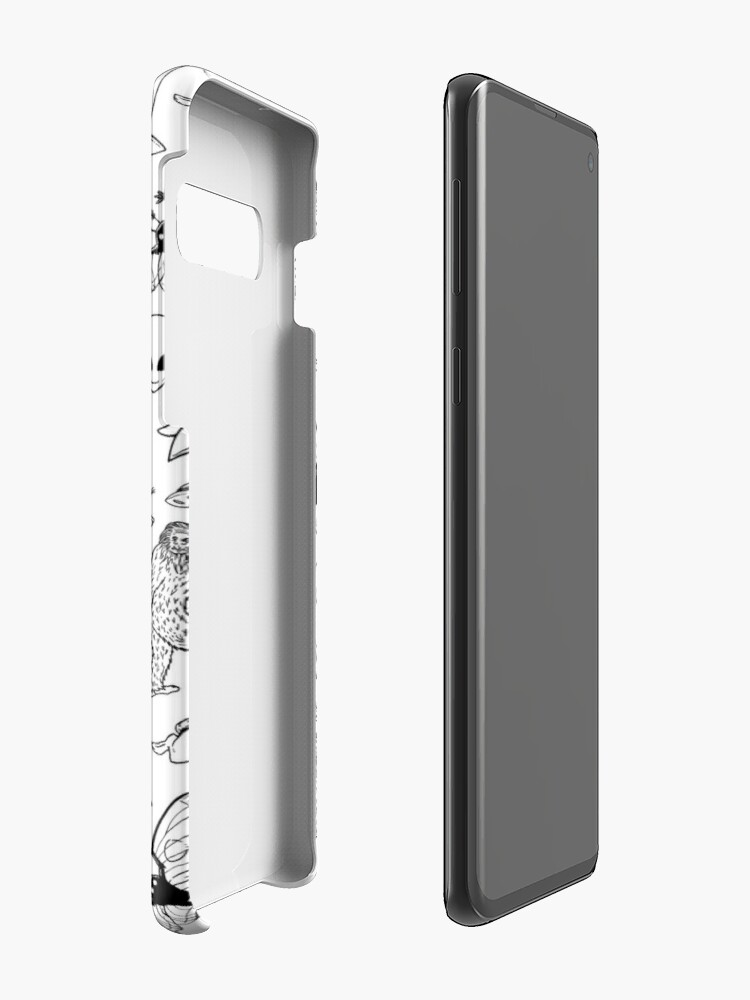 Alternate view of Cryptid Pattern (White Background)  Case & Skin for Samsung Galaxy