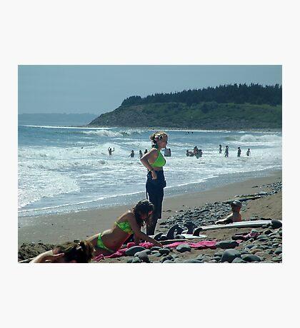 We Love The Beach Photographic Print