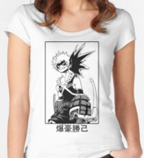 Katsuki Bakugo Women's Fitted Scoop T-Shirt