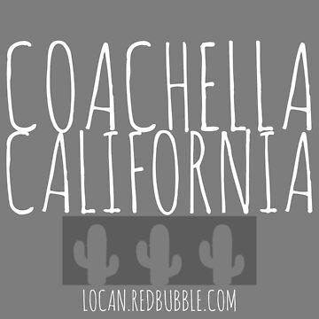 COACHELLA CALIFORNIA | cactus | T White by Locan