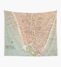 Vintage Karte von Lower Manhattan (1921) Wandbehang