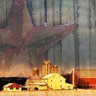 Star Red Barn Sunlight  by KellyHeaton