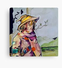 Wizard Aizawa- Watercolour Metal Print