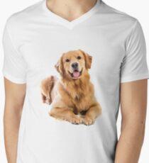 We love Golden Retriever! Men's V-Neck T-Shirt