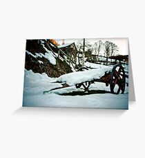 Cart in the snow Greeting Card