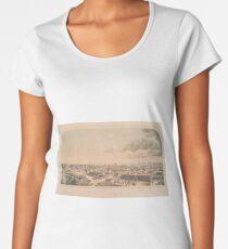 Vintage Pictorial Map of Key West FL (1855) Women's Premium T-Shirt