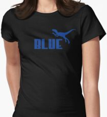 Blue Women's Fitted T-Shirt