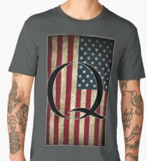 Q QANON AMERICA USA - WHERE WE GO ONE Men's Premium T-Shirt