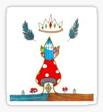 Mushroom King Sticker