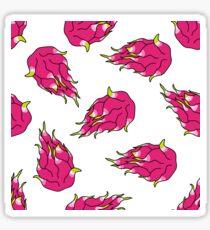 pitahaya (dragon fruit) seamless doodle pattern Sticker
