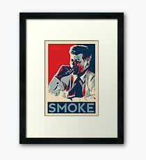 Smoke - Kennedy with cigar obama style poster graphic Framed Print