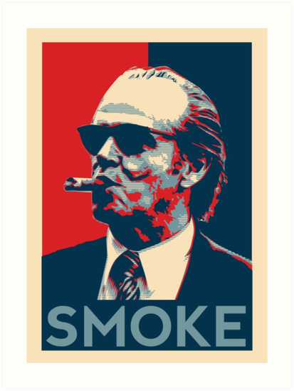 smoke nicholson with cigar obama style poster graphic art prints