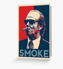 Smoke - Nicholson with cigar obama style poster graphic Greeting Card
