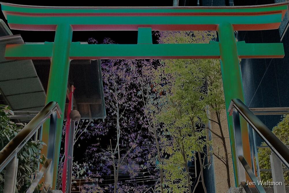 Autumn in Japan:  Ancient Modern Gateway by Jen Waltmon