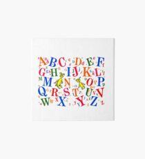 Funny Alphabets Art Board