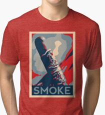 Smoke - cigar obama style poster graphic Tri-blend T-Shirt