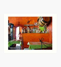 Rhum Bar in Choroni Art Print