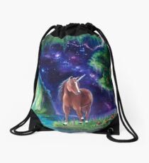 Sonny's Heaven-- Unicorn Fantasy scene Drawstring Bag
