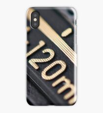 Modern zoom photo camera lens iPhone Case/Skin