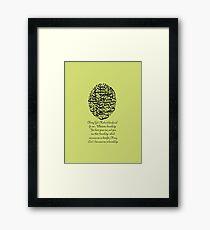 Pray for all mankind t Framed Print