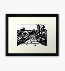 The route to nowhere - Fairytale story book Illustration Framed Print