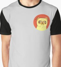 Colored Pencil Pug Graphic T-Shirt