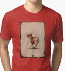 fox sketch frame psdelux Tri-blend T-Shirt