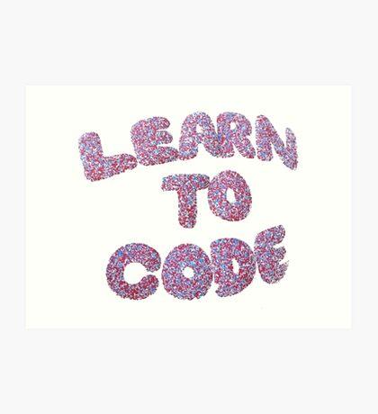 Learn To Code Art Print