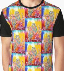 Rainbow Owl Graphic T-Shirt