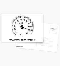 Turn it to 11 Black Postcards