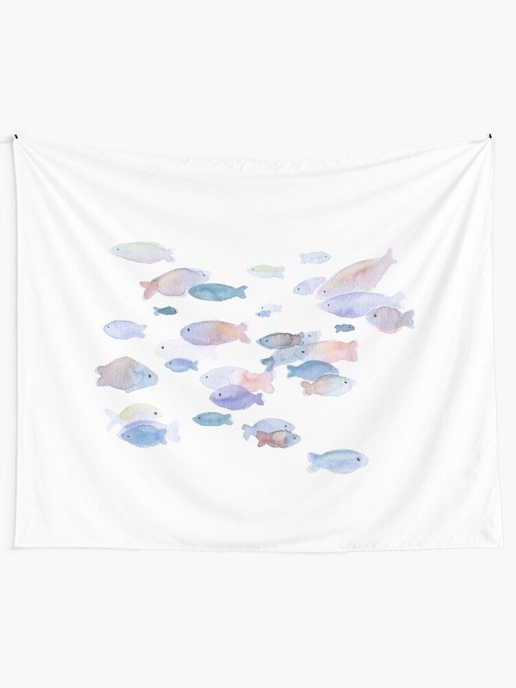 Alternate view of Little fish Tapestry