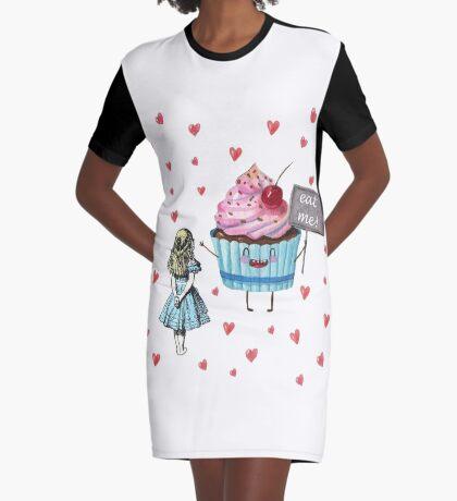 Alicia en el país de las maravillas - comerme Vestido camiseta